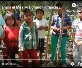 Compartimos el siguiente video que nos envian de la Infancia Misionera por motivo del incio del Mes Misionero DOMUND 2020 desde la Comunidad de Arapino en la Amazonia Ecuatoriana